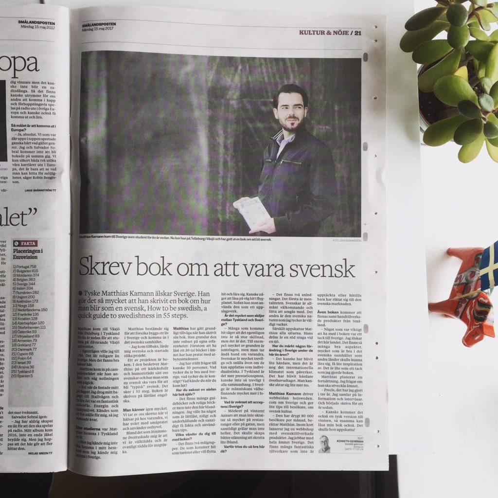Matthias Kamann SMP Smalandsposten article 170515 How to be Swedish