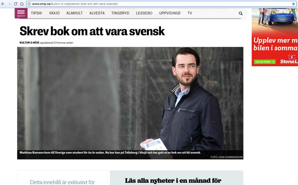 Screenshot - SMP.se Smålandsposten, Matthias Kamann